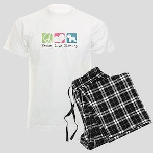 Peace, Love, Bichons Men's Light Pajamas