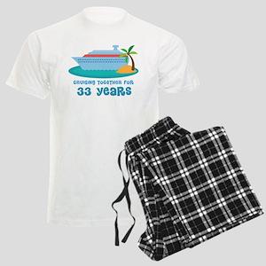 33rd Anniversary Cruise Men's Light Pajamas