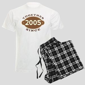 2005 Wedding Anniversary Men's Light Pajamas