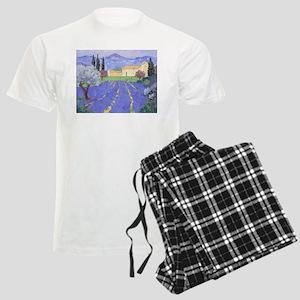 Lavender Farm Men's Light Pajamas