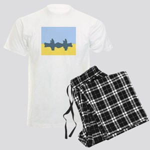 CHALK BLUE SKY CANOE Men's Light Pajamas