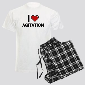 I Love Agitation Digitial Des Men's Light Pajamas