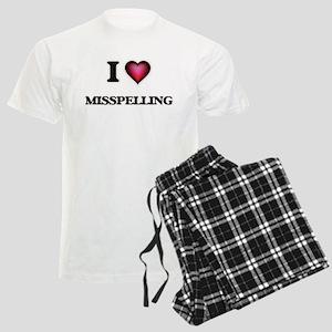 I Love Misspelling Men's Light Pajamas