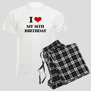 my 16th birthday Men's Light Pajamas