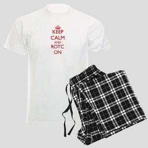 Keep Calm and Rotc ON Men's Light Pajamas