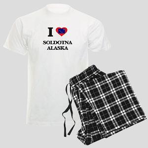 I love Soldotna Alaska Men's Light Pajamas