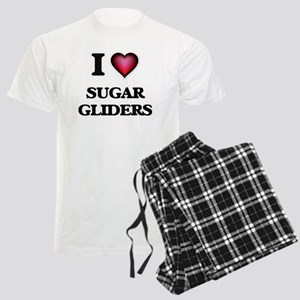 I Love Sugar Gliders Men's Light Pajamas