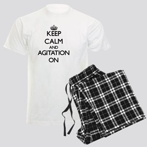 Keep Calm and Agitation ON Men's Light Pajamas