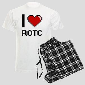 I Love Rotc Digital Design Men's Light Pajamas