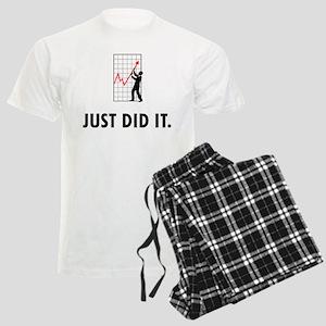 Financial Trader Men's Light Pajamas