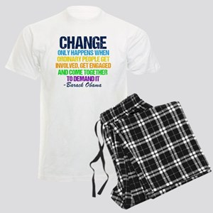 Obama Change Quote Men's Light Pajamas