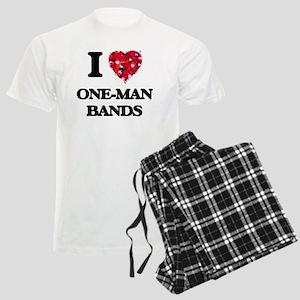 I love One-Man Bands Men's Light Pajamas