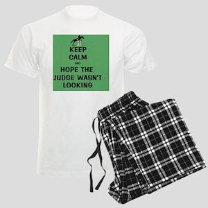 Funny Keep Calm Horse Show Men's Light Pajamas