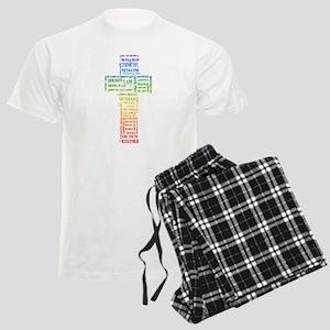 Names of Jesus Cross Men's Light Pajamas