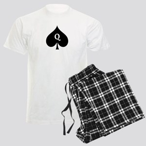 Queen of Spades With Q inside of Logo Pajamas