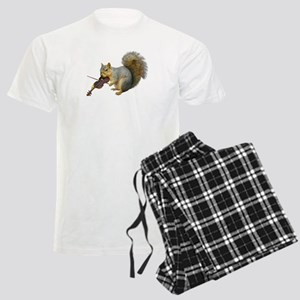 Squirrel Violin Men's Light Pajamas