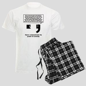 The Power of Commas Men's Light Pajamas