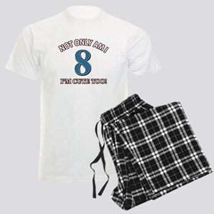 8 year old birthday designs Men's Light Pajamas