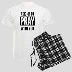 Ask Me To Pray With You Men's Light Pajamas