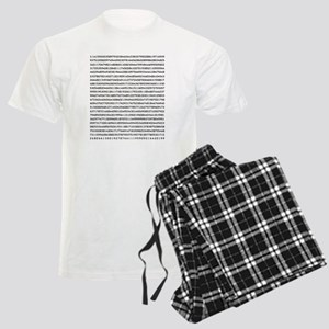 Pi to 1000 Digits Men's Light Pajamas