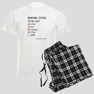 Nursing Student To-Do List Men's Light Pajamas