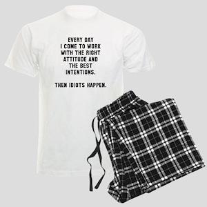 Then idiots happen Men's Light Pajamas