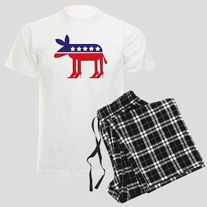 Democratic Donkey on Heels Men's Light Pajamas