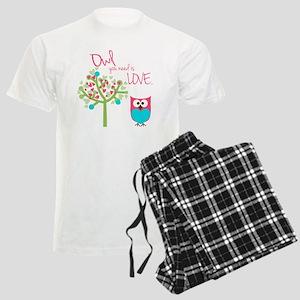 Owl You Need is Love Men's Light Pajamas