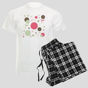 Gingham Polka Dots Daisies Men's Light Pajamas