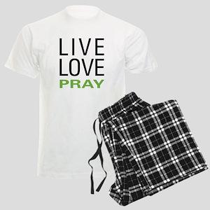 Live Love Pray Men's Light Pajamas