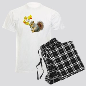 Squirrel Daffodils Men's Light Pajamas