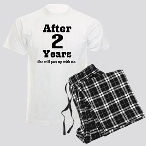2nd Anniversary Funny Quote Men's Light Pajamas