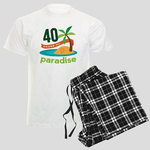 40th Anniversary (Tropical) Men's Light Pajamas