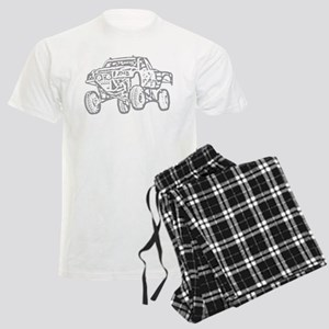 Off-Road Race Truck Grey Men's Light Pajamas