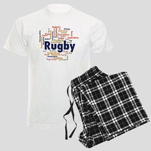 Rugby Word Cloud Pajamas