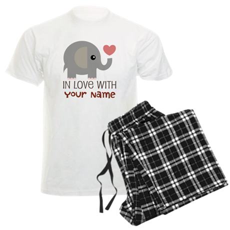 Personalized Matching Couple Men's Light Pajamas