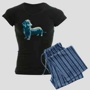 Dachshund Pop Art dog Women's Dark Pajamas