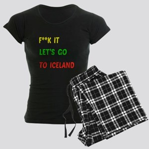 Let's go to Iceland Women's Dark Pajamas