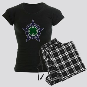Chicago Police Irish Badge Women's Dark Pajamas