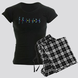 FRIENDS TV Logo Blue Pajamas