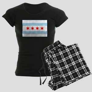 City of Chicago Flag Women's Dark Pajamas