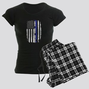 The Thin Blue Line Women's Dark Pajamas