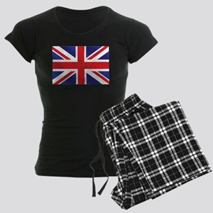 Union Jack UK Flag Women's Dark Pajamas