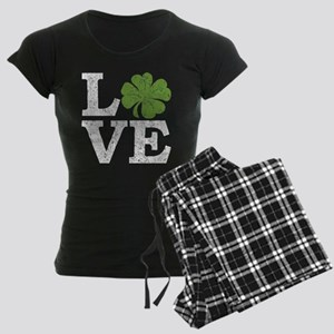 love_shamrock_white Pajamas