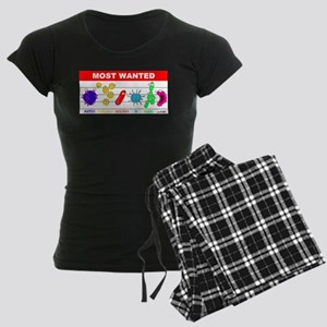 Most Wanted Poster Women's Dark Pajamas