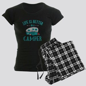Life's Better Camper Women's Dark Pajamas