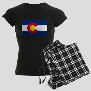 Colorado State Flag Women's Dark Pajamas