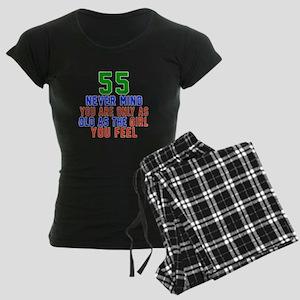 55 Never Mind Birthday Desig Women's Dark Pajamas