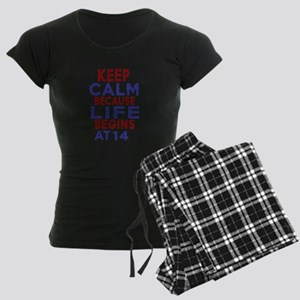Life Begins At 14 Women's Dark Pajamas