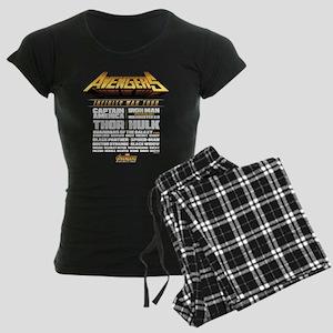 Avengers Infinity War Lineup Women's Dark Pajamas
